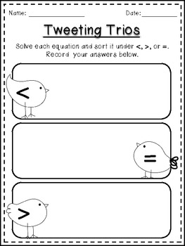 A Spring to Tweet About: Math Centers {Common Core Aligned}