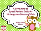 A Sprinkling of Spiral Review Morning Work Set 1