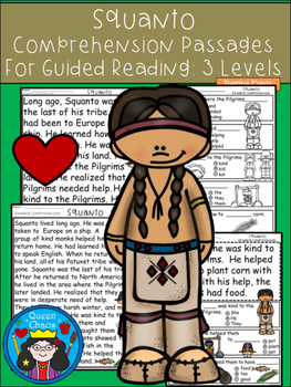 A+ Squanto Comprehension:Differentiated Instruction For Guided Reading