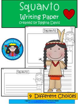A+ Squanto: Differentiated Writing Paper