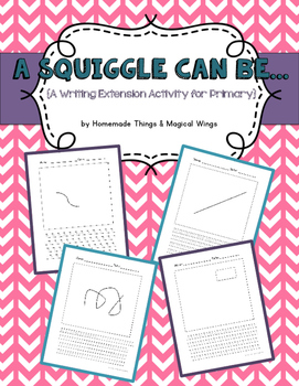 A Squiggle Can Be {Writing Practice for K-3rd}