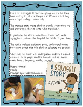 A Squiggly Story: Companion pages for Pre-K-2nd Grade Writers