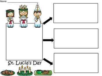 A+  St. Lucia's Day ... Three Graphic Organizers