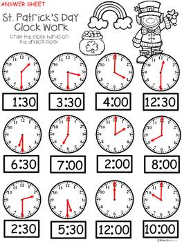 A+ Leprechaun Analog Clock & Digital Clock Work (Hour & Half Hour)