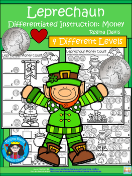 A+ Leprechaun Money Count...Differentiated  Practice