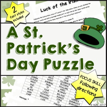 A St. Patrick's Day Puzzle (Following Directions)