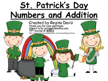 A+  St. Patrick's Day Math: Simple Addition and #'s 0-100