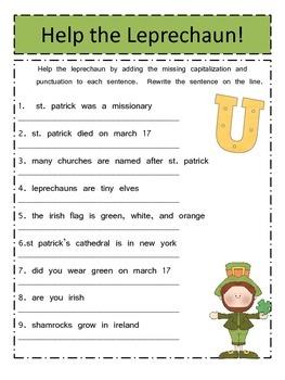 A St. Patrick's Day Unit