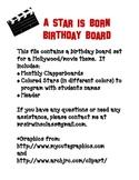 A Star Is Born Birthday Board