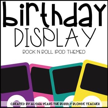 A Star is Born-  Birthday for Rock n Roll IPod Theme (Editable)