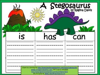 A+  Stegosaurus ... Three Graphic Organizers