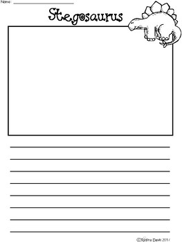 A+ Stegosaurus... Writing Paper