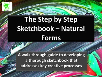 A Step by Step Guide to developing a sketchbook based on natural forms