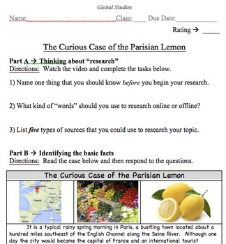 A Step-by-Step Research Paper for Social Studies