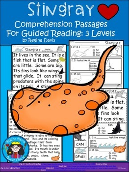 A+ Stingray.... Comprehension: Differentiated Instruction For Guided Reading