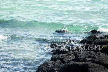 A Stock Photo of the Sea Waves and Rocks