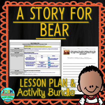 A Story For Bear by Dennis Haseley 4-5 Day Lesson Plan