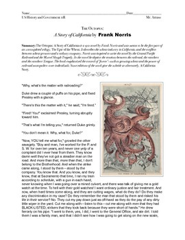 A Story of California by Frank Norris (US History 11)