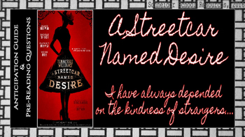 A Streetcar Named Desire Anticipation Guide and Pre-Readin