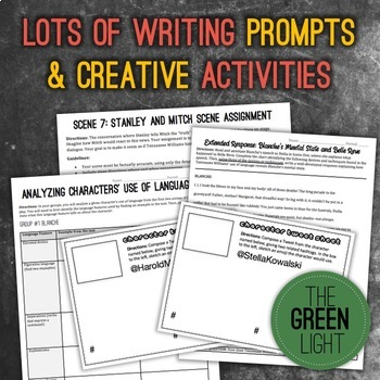 A Streetcar Named Desire Bundle: Unit Plan, Worksheets, Task Cards, & Activities