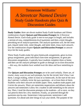 A Streetcar Named Desire, Study Guides & Quiz/Discussion guides