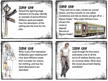 A Streetcar Named Desire Task Cards -- Quizzes, Bell-Ringers, Activities