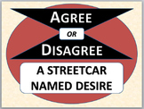 A Streetcar Named Desire - Agree or Disagree pre-reading activity