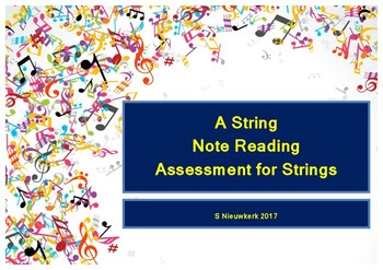 A String Note Reading Assessment