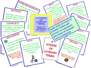 A String of Literary terms