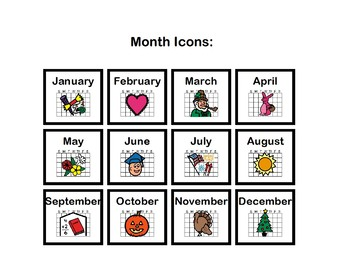 A Structured, Visual Icon Based, Daily Calendar Book With A Mini Schedule!