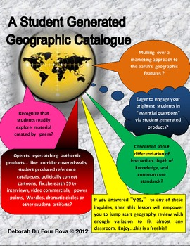 A Student Generated Geographic Catalogue