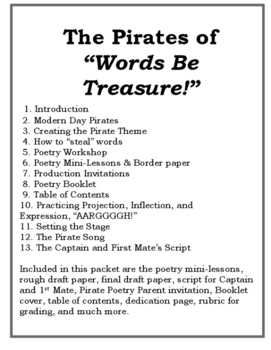 A Pirate Poetry Student Production