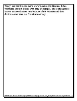 A Student's Guide to the Constitutional Convention - Constitutional Day Activity
