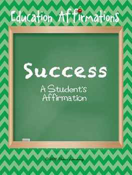 A Student's Affirmation (Education Affirmations Series)