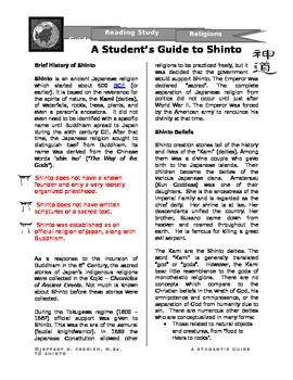 A Student's Guide to Shinto