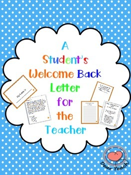 A Student's Welcome Back Letter to the Teacher