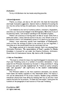 """A Study Guide to """"Fear and Trembling"""" by Kierkegaard"""