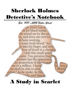 A Study in Scarlet Student Detective Notebook