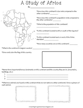 A Study of Each Continent