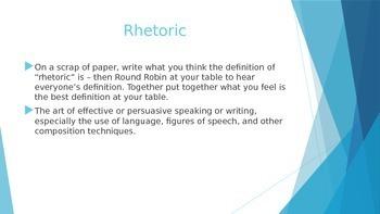 A Study of Rhetoric - How Language Affects Perception