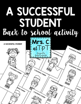A Successful Student - Back to school activity