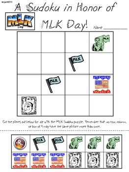 MLK Day Primary Sudoku