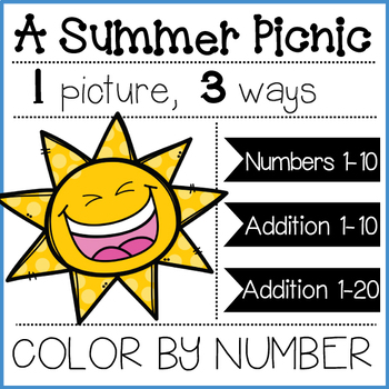 A Summer Picnic: Color by Number