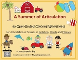 A Summer of Articulation: 90 Open-Ended Printable Coloring