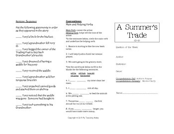 A Summer's Trade Trifold (Reading Street 2011 Edition)