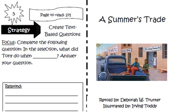 A Summer's Trade Trifold Reading Street Unit 2 5th Grade