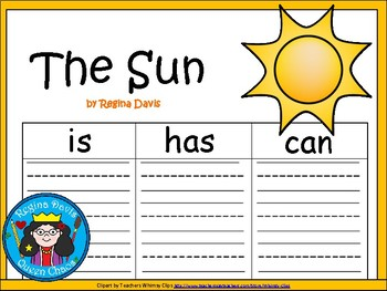 A+ Sun ...Three Graphic Organizers