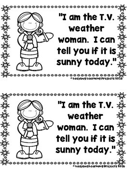 A Sunny Day Weather Report (A Sight Word Reader and Teacher Lap Book)