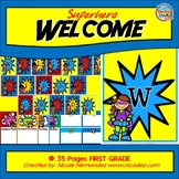 Welcome Banner Superhero - Welcome to First Grade