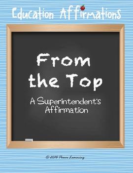 A Superintendent's Affirmation (Professional Development)